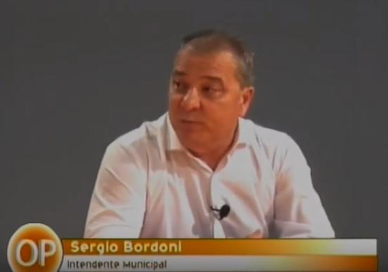 El Intendente Sergio Bordoni en la mesa de Opiniones