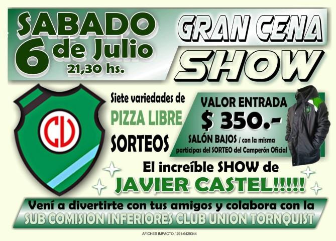 6 de julio: Cena Show en el Club Unión